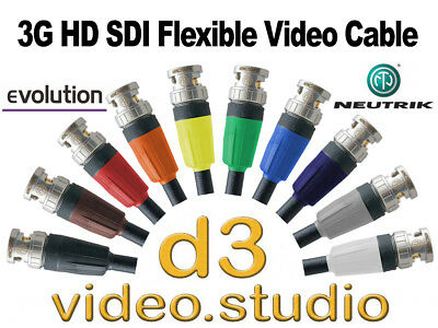 3G HD SDI Digital Video Flexible Neutrik BNC Cable Sony ATEM BMD JVC Tricaster