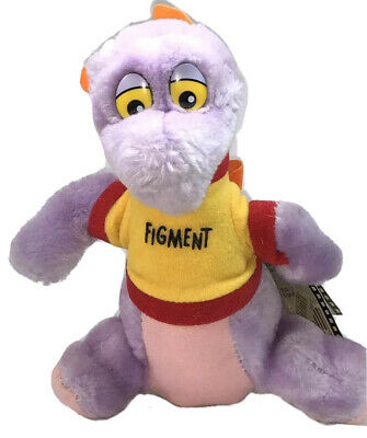 "Plush Figment Disneyland Disney World Parks Dragon Toy 7"" Inch New With Tags"