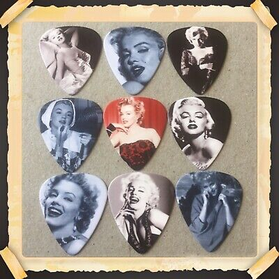 Lot Of 9 Double Sided 🎸marilyn Monroe 🎸  Guitar Picks Brand New #1