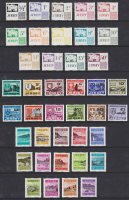 Jersey 1971 And 1978 And 1982 Postage Due Sets ( 3 ) Complete U/Mint
