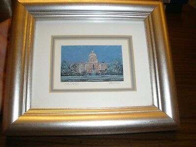 Pawinee McEntire-Capital Hill- #25/1950-Framed Signed Matted Litho w/ COA
