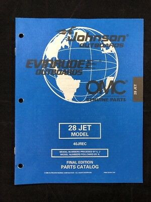OUTBOARD PARTS MANUAL Evinrude Johnson Year 1998 Catalog