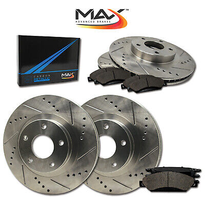 2012 2013 2014 2015 Ford Flex Non HD Slotted Drilled Rotor w/Metallic Pads F+R