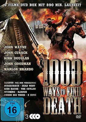9 Western Klassiker 1000 WAYS TO FIND DEATH John Wayne MARLON BRANDO  DVD Box