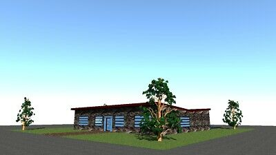Single floor house plans (120-240 sq meters - 1290-2580 sq feet)