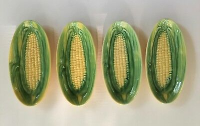 4 Vintage Vallona Starr California Pottery Corn Pattern Dishes For On The Cob