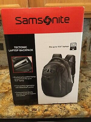 "Samsonite® Tectonic PerfectFit Laptop Backpack For 15.6"" Laptop Black~ NWT"