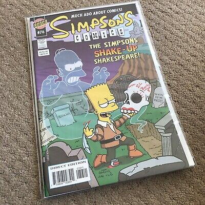 SIMPSONS COMICS #76 - Great Condition - BONGO US - November 2002 - NM