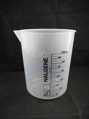 NALGENE Plastic 1000mL 1L Polypropylene Low-Form Griffin Beaker 1201-1000