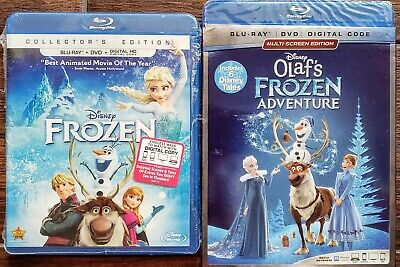 Frozen + Olaf's Adventure Blu-Ray + Dvd 2-Movie 4-Disc Disney ✔☆Mint☆✔No Digital