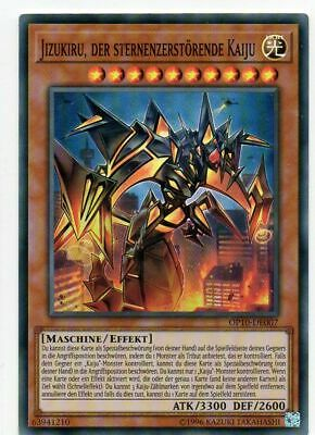 YuGiOh German Jizukiru, the Star Destroying Kaiju OP10 Super Rare HOT!