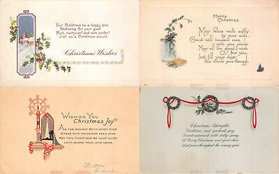 Lot of 10 Early Christmas Poems Unused Postcards #138021 R