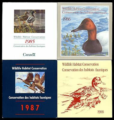 Lot of 5 Canada 1985 - 1989 MNH Mint Wildlife Conservation Stamps #137355 X R