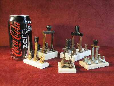 Antique Electric Knife Switches Set of 5  Porcelain Bases VG Used Condition