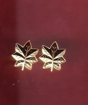 Navy and  Marine Corps gold oak leaves  Rank Insignia 1/2 half size badge