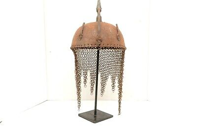 Vintage Indo Persian Islamic Kulah Khud Armor Helmet etched Ottoman Antique war