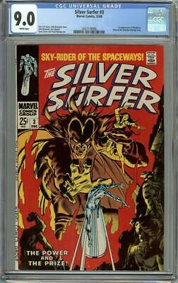 Silver Surfer #3 CGC 9.0 White Pages - 1st Appearance of Mephisto