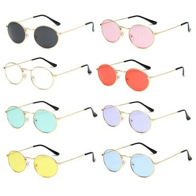 Woman Vintage Polarized Sunglasses Hippie Retro Round Gold Frame Glasses Hot
