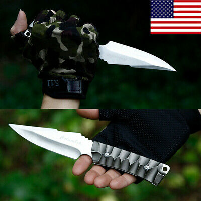 """US 8"""" Fixed Blade 55HRC Straight Tactical Survival Hunting Pocket Knife w/Sheath"""