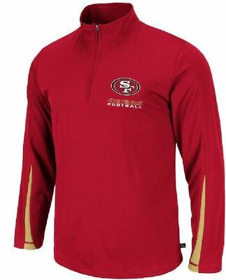 8ceb245e NFL SAN FRANCISCO 49ers Football 1/4 Zip Up Pullover Sweatshirt ...