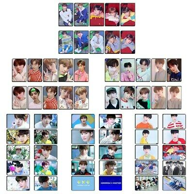 10pcs New Kpop TXT Crystal Card Stickers All Members Fans Journal DIY Stickers