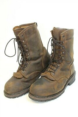 0d3abcb611e SCHMIDT MENS SZ 10 W Steel Toe Leather Distressed Work/Motorcycle ...
