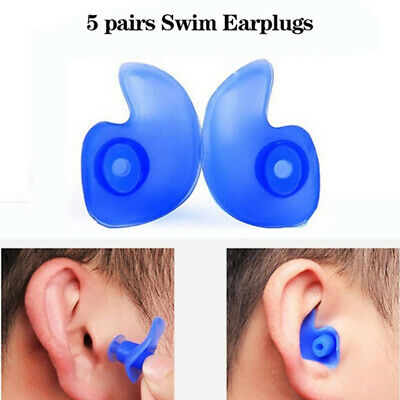 5 pairs Soft Silcone Anti Noise Foam Ear Plugs For Swimming Sleep Work Summ SL