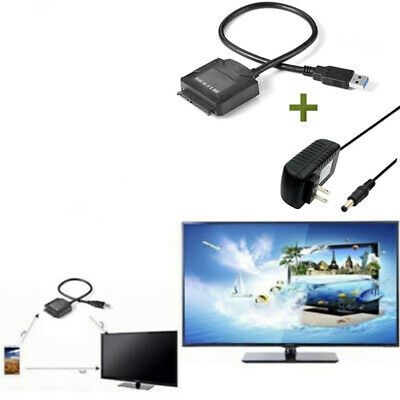 USB3.0 to 2.5 3.5 IDE SATA Hard Drive HDD SDD Converter Adapter PC Cable US/UKSL