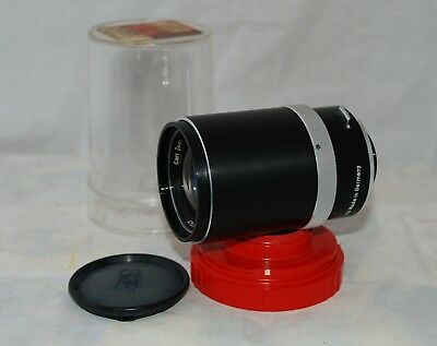 Vintage Carl Zeiss Ikon Tele-Tessar 4/135mm Lens with Original Plastic Case