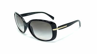 76e4130a9 New Prada Spr 08O 1Ab-0A7 Black / Grey Gradient Authentic Sunglasses 57-17