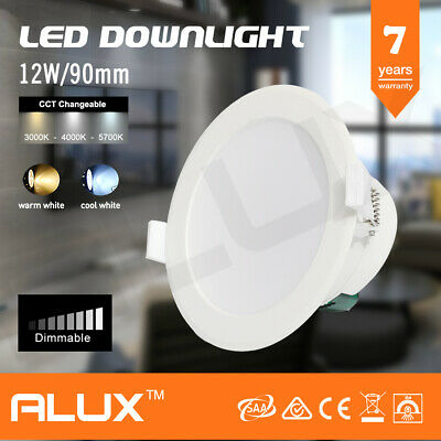 12W Ip44 Dimmable Led Downlight Kit 90Mm Cutout Warm / Cool White Daylight Saa