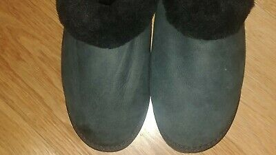 66a24bec6fa NEW UGG AUSTRALIA CLUGGETTE BLACK SUEDE Womens Slide Slippers Size ...