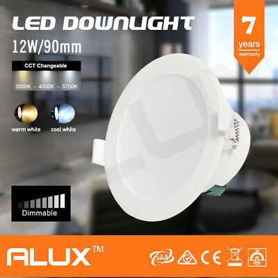 12W Led Downlight Kit 90Mm Cutout Dimmable Warm Cool White Daylight Ip44 Saa