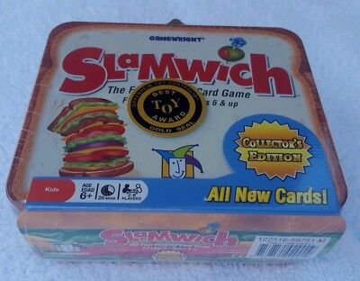 SLAMWICH COLLECTORS EDITION Tin The Fast Flipping Card Game Gamewright Toy  Award