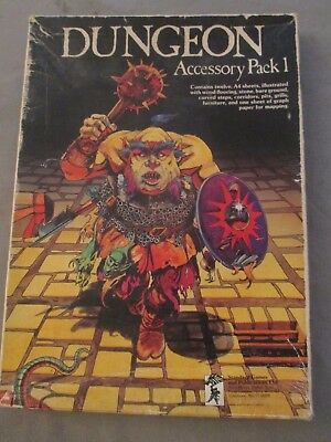 dungeon games workshop accessory pack 1 avec 31 plaques sheets illustrated 1979