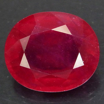13.52ct.Natural Top Red Ruby Madagascar Oval Facet Very Beautiful AA Resplendent