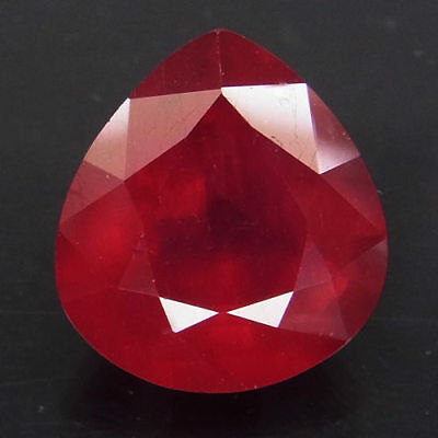 10.13ct.Natural Top Red Ruby Madagascar Pear Shape Facet Very Beautiful AA Big!