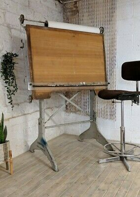 Antique Harper&Tunstall Drawing Board Draughtsman Architect Drafting Table Chair