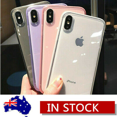 Shockproof Transparent Silicone Clear Case Cover For iPhone XS Max XR X 8 7 Plus