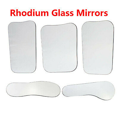 Dental Orthodontic Oral Intraoral Photographic 2-sided Rhodium/SST Glass Mirrors