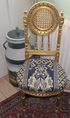 Gold Damask Shabby Chic Bed Room Chair Antique Style Bedroom