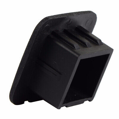 """1pc 2"""" Hitch Receiver Cover Tralier Hauling Black Rubber Square Towing Cover"""
