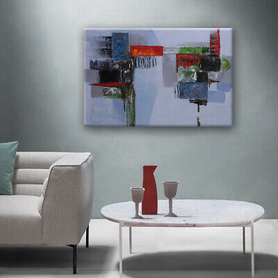 Handmade Modern Abstract Art Home Decor Oil Painting Stretched Canvas Framed