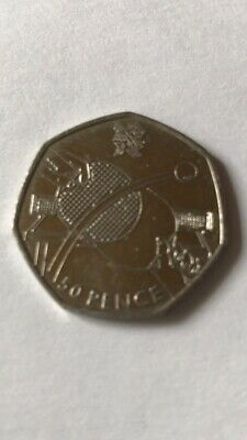 Used London Summer Olympic 2012 Table Tennis 50P Coin Fifty Pence Pingpong