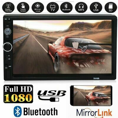 "7"" Double 2 Din Car Stereo MP5 Player 1080P Touch Screen Bluetooth GPS FM Radio"