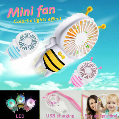 Mini Portable Cute Travel Fan Blower Hand Held Air Cooling Rechargeable For Kids
