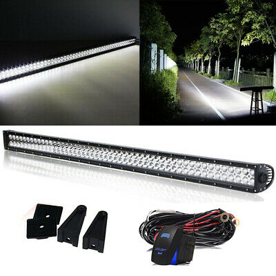 52'' Inch LED Light Bar Offroad Work fog Lamp For Jeep Ford Truck 4X4 Pickup 4WD