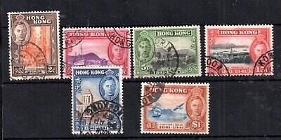 Hong Kong KGVI 1941 Occupation Centenary fine used set #163-168 WS13122