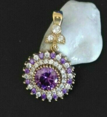 Aaa Quality Sterling 925 Silver Jewelry Top Rich Purple Amethyst Pendant
