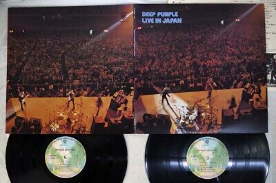 DEEP PURPLE LIVE IN JAPAN WARNER P-5506W,7 Japan VINYL 2LP